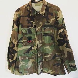 Other - U.S. Air Force Camo BDU Shirt | Medium Short